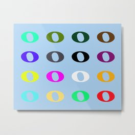 16 Whole Notes Metal Print