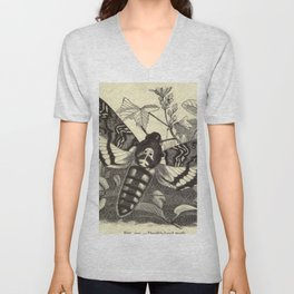 Death's-head Moth Unisex V-Neck