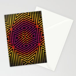 Trax #3 Vibrant Optical Illusion Stationery Cards
