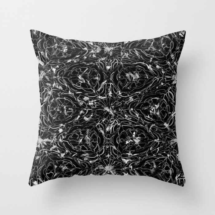 Black and white astral paint 5020 Throw Pillow