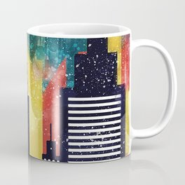 New York City Skyscrapers In Watercolor Art, New York Poster, Wall Art Home Decor, City Skyline Art Coffee Mug