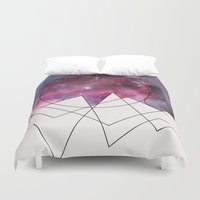 outer space Duvet Covers featuring Outer Space by FlurinaJT