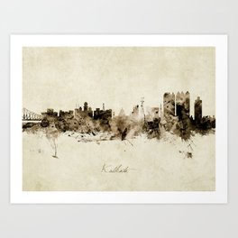 Kolkata India Skyline Art Print