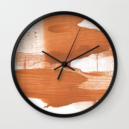 Peru hand-drawn wash drawing texture Wall Clock