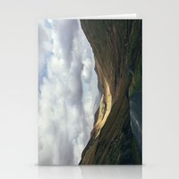 cassia beck Stationery Cards featuring Sunlight in the valley near Newland Hause. Keskadale Beck. Cumbria, UK. by liamgrantfoto