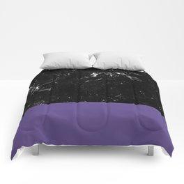 Ultra Violet Meets Black Marble #1 #decor #art #society6 Comforters