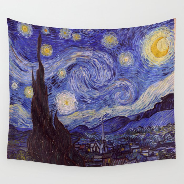 Vincent Van Gogh Starry Night Wall Tapestry By Artgallery