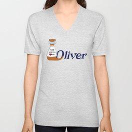 Oliver the Otter Wears a Mask Unisex V-Neck