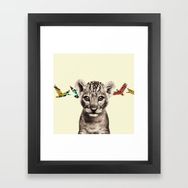 flighty cub Framed Art Print