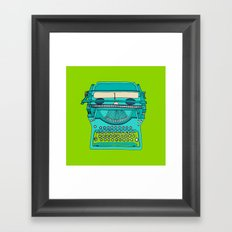 Typewriter number four Framed Art Print