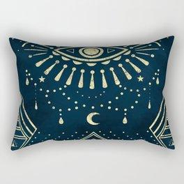 Eye Midnight Gold Rectangular Pillow