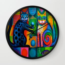 Juggle Puss Wall Clock