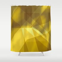 rush Shower Curtains featuring Gold Rush by renajoy