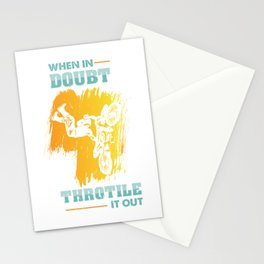 Motocross When In Doubt Throttle It Out Stationery Cards