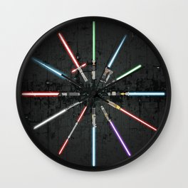 Lightsaber Clock Wall Clock