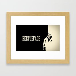 Beetleface Framed Art Print