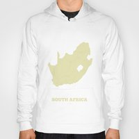 south africa Hoodies featuring South Africa map by CartoPosters Maps