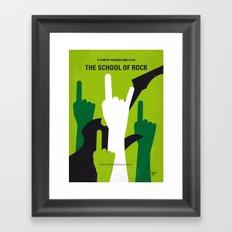 No668 My The School of Rock minimal movie poster Framed Art Print