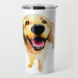 Good Boy / Yellow Labrador Retriever dog art Travel Mug