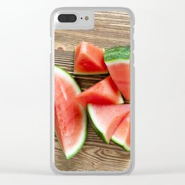 juicy watermelon slices Clear iPhone Case