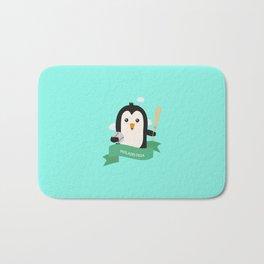 Baseball Penguin from PHILADELPHIA T-Shirt Bath Mat