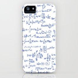 Blue Math Equations iPhone Case