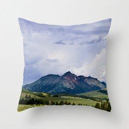 Electric Peak Yellowstone Throw Pillow