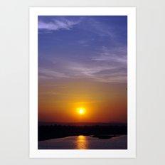 Sunset at the Dam Art Print