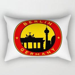 Berlin, circle, sticker Rectangular Pillow