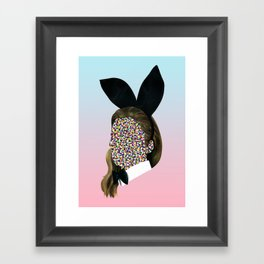 Bunny Girl Framed Art Print