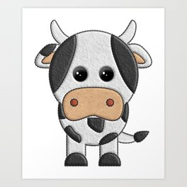 Vaquita de peluche - Cow of teddy Art Print