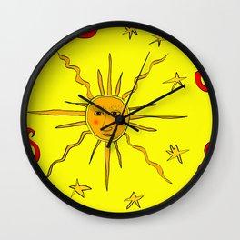YellowSunPong Wall Clock