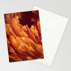 FLIGHT OF THE FOXES Stationery Cards