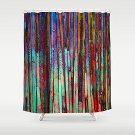 Colored Bamboo 2 Shower Curtain