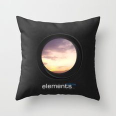elements | clouds Throw Pillow