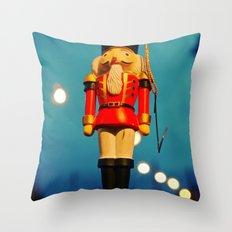 Nutcracker at night Throw Pillow