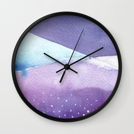 Snowy Landscape Abstract Wall Clock