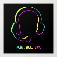 Play. All. Day. Canvas Print