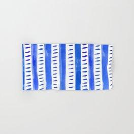 Watercolor lines - blue Hand & Bath Towel