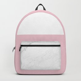 Marble And Dusty Pink Backpack