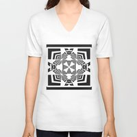 labyrinth V-neck T-shirts featuring Labyrinth by 13Halliwell