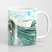 loki Mugs featuring Loki by Crooked Octopus
