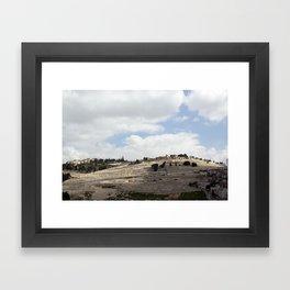Mount of Olives Framed Art Print