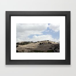 Mount of Olives Framed Art Print