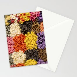 Colorful pattern of balloon nozzles packed in kit Stationery Cards
