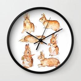 Bunnies in Tales of Peter Rabbit  characters Beatrix Potter Wall Clock