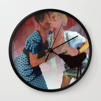 monster inc Wall Clocks featuring Xdressers Inc. by Shadoe Leibelt