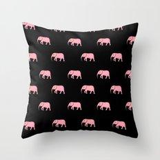 pink elephants Throw Pillow