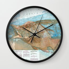 Hogfish Wall Clock