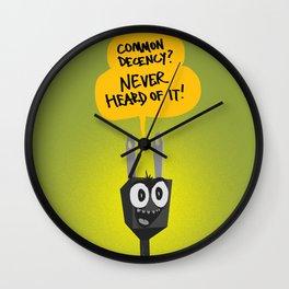 Shameless Plug Wall Clock